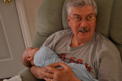 Content in Grampa's arms