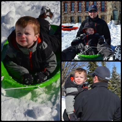 sledding collage